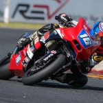Trevor injured  in crash at Road America while fighting for podium